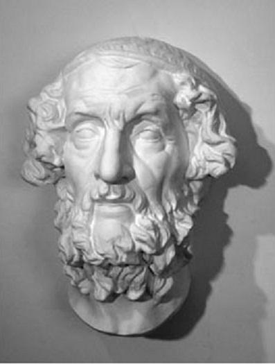 античная гипсовая голова фото: